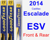 Front & Rear Wiper Blade Pack for 2014 Cadillac Escalade ESV - Premium