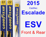 Front & Rear Wiper Blade Pack for 2015 Cadillac Escalade ESV - Premium