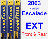 Front & Rear Wiper Blade Pack for 2003 Cadillac Escalade EXT - Premium