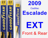 Front & Rear Wiper Blade Pack for 2009 Cadillac Escalade EXT - Premium