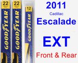 Front & Rear Wiper Blade Pack for 2011 Cadillac Escalade EXT - Premium