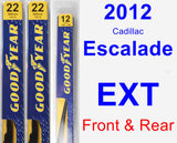 Front & Rear Wiper Blade Pack for 2012 Cadillac Escalade EXT - Premium