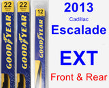 Front & Rear Wiper Blade Pack for 2013 Cadillac Escalade EXT - Premium