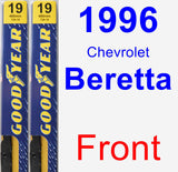 Front Wiper Blade Pack for 1996 Chevrolet Beretta - Premium