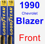 Front Wiper Blade Pack for 1990 Chevrolet Blazer - Premium