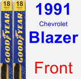 Front Wiper Blade Pack for 1991 Chevrolet Blazer - Premium