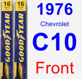 Front Wiper Blade Pack for 1976 Chevrolet C10 - Premium