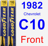 Front Wiper Blade Pack for 1982 Chevrolet C10 - Premium