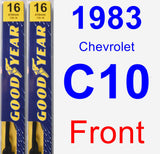 Front Wiper Blade Pack for 1983 Chevrolet C10 - Premium