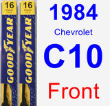Front Wiper Blade Pack for 1984 Chevrolet C10 - Premium