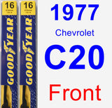 Front Wiper Blade Pack for 1977 Chevrolet C20 - Premium