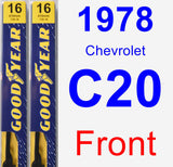 Front Wiper Blade Pack for 1978 Chevrolet C20 - Premium