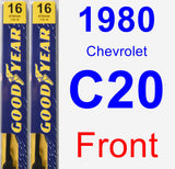 Front Wiper Blade Pack for 1980 Chevrolet C20 - Premium