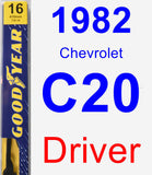 Driver Wiper Blade for 1982 Chevrolet C20 - Premium