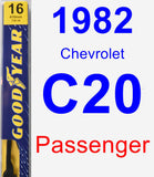 Passenger Wiper Blade for 1982 Chevrolet C20 - Premium