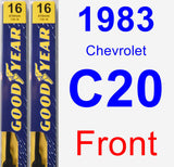 Front Wiper Blade Pack for 1983 Chevrolet C20 - Premium
