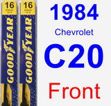 Front Wiper Blade Pack for 1984 Chevrolet C20 - Premium