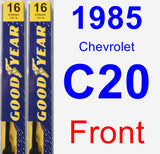 Front Wiper Blade Pack for 1985 Chevrolet C20 - Premium