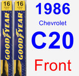 Front Wiper Blade Pack for 1986 Chevrolet C20 - Premium