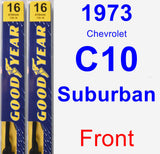 Front Wiper Blade Pack for 1973 Chevrolet C10 Suburban - Premium