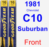 Front Wiper Blade Pack for 1981 Chevrolet C10 Suburban - Premium
