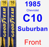 Front Wiper Blade Pack for 1985 Chevrolet C10 Suburban - Premium