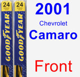 Front Wiper Blade Pack for 2001 Chevrolet Camaro - Premium