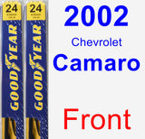 Front Wiper Blade Pack for 2002 Chevrolet Camaro - Premium