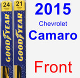 Front Wiper Blade Pack for 2015 Chevrolet Camaro - Premium