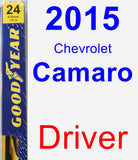 Driver Wiper Blade for 2015 Chevrolet Camaro - Premium