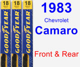 Front & Rear Wiper Blade Pack for 1983 Chevrolet Camaro - Premium