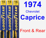 Front & Rear Wiper Blade Pack for 1974 Chevrolet Caprice - Premium