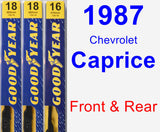 Front & Rear Wiper Blade Pack for 1987 Chevrolet Caprice - Premium