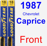 Front Wiper Blade Pack for 1987 Chevrolet Caprice - Premium