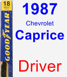 Driver Wiper Blade for 1987 Chevrolet Caprice - Premium