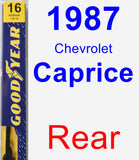 Rear Wiper Blade for 1987 Chevrolet Caprice - Premium