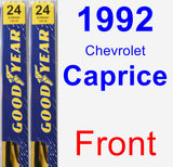 Front Wiper Blade Pack for 1992 Chevrolet Caprice - Premium