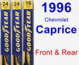 Front & Rear Wiper Blade Pack for 1996 Chevrolet Caprice - Premium