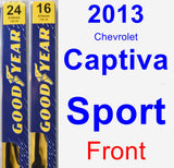 Front Wiper Blade Pack for 2013 Chevrolet Captiva Sport - Premium