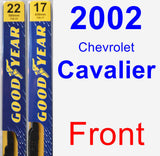 Front Wiper Blade Pack for 2002 Chevrolet Cavalier - Premium