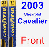 Front Wiper Blade Pack for 2003 Chevrolet Cavalier - Premium