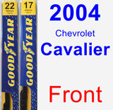 Front Wiper Blade Pack for 2004 Chevrolet Cavalier - Premium