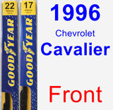 Front Wiper Blade Pack for 1996 Chevrolet Cavalier - Premium