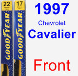 Front Wiper Blade Pack for 1997 Chevrolet Cavalier - Premium