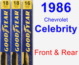 Front & Rear Wiper Blade Pack for 1986 Chevrolet Celebrity - Premium