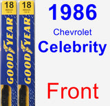 Front Wiper Blade Pack for 1986 Chevrolet Celebrity - Premium