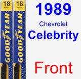Front Wiper Blade Pack for 1989 Chevrolet Celebrity - Premium