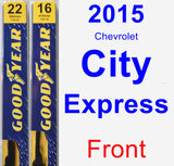 Front Wiper Blade Pack for 2015 Chevrolet City Express - Premium