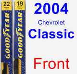 Front Wiper Blade Pack for 2004 Chevrolet Classic - Premium