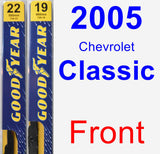 Front Wiper Blade Pack for 2005 Chevrolet Classic - Premium